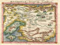 Map of Russia and Ukraine 1574 Ruscelli