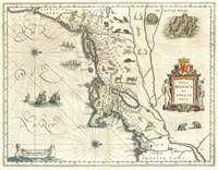 Map of New England and New York 1635 Blaeu