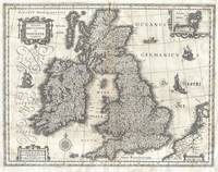 Map of the British Isles, 1631 Blaeu