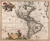 Map of North America & South America 1658 Visscher