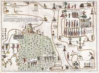 Map of the Aztec Migration 1704 Gemelli