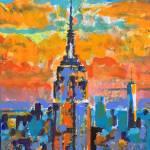 Midtown Sunset New York City  by RD Riccoboni