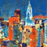 Midnight in Midtown Chrysler Building  New York by RD Riccoboni
