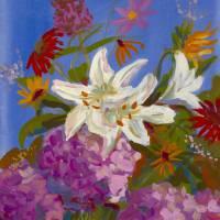 Bouquet on Blue Art Prints & Posters by michael pfleghaar