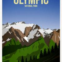 Olympic National Park Art Prints & Posters by Jamie Harknett