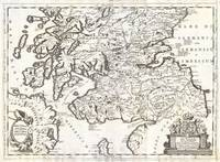Map of Southern Scotland 1690 Coronelli