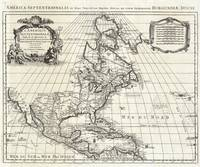 Map of North America 1708 De L'Isle