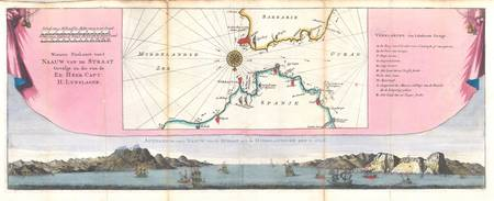 Map of Gibraltar 1747 Ratelband