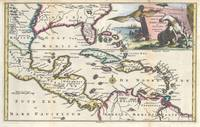 Map of Florida, Mexico, & West Indies 1747 Ruyter