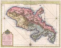 Map of Martinique 1742 Covens and Mortier