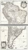 Map of South America 1730 Covens and Mortier