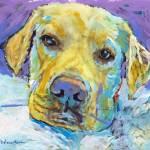 Woof Woof Lab puppy dog  by RD Riccoboni