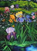 Spring Irises by Debra Seney