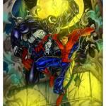 spider-man vs venom (color) Prints & Posters