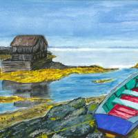 """NS coastline with dory"" by"