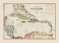 West Indies Map (1853)