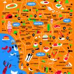 Illustrated Map of Los Angeles by Nate Padavick Prints & Posters