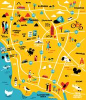 Illustrated Map of Los Angeles,CA by Nate Padavick