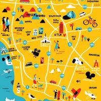 Illustrated Map of Los Angeles,CA by Nate Padavick Art Prints & Posters by They Draw & Cook & Travel