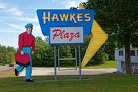 Hawkes Plaza-Westbrook, Maine.