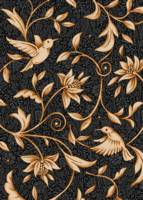 Floral Black Chintz