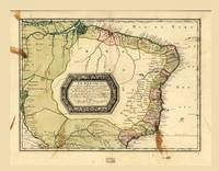 Le Bresil (Map of Brazil circa 1656)