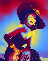 Hedy Lamarr 1940's fashion Neon art by Ahmet Asar