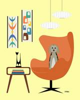 Mid Century Yellow Room 3