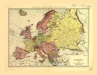 Rand McNally Map of Europe (1898)