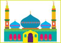 A colorful mosque
