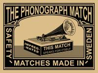 The Vintage Phonograph Safety Matches