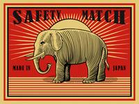 The Vintage Elephant Safety Match