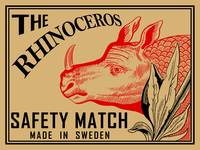 The Vintage Rhinoceros Safety Match