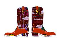 Boots decorated