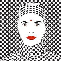 Op Art Woman