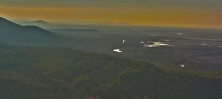 Sunset over the Petit Jean River Valley, Arkansas