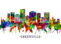 Greenville South Carolina Skyline