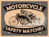 The Vintage Motorcycle Safety Matches