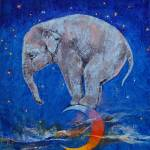 Baby Elephant Moon Prints & Posters