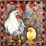 "Rooster and baby chick | farm ar""Fly With Eagles""  Prints & Posters"