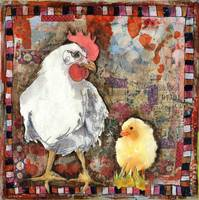 Rooster and baby chick | farm ar
