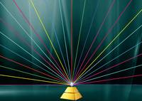 Pyramid and color laser lines
