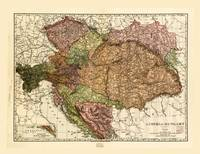 Rand McNally Map of Austria-Hungary (1906)
