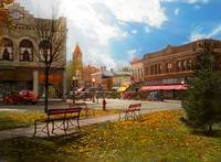 City - Marengo IA - The final leaves of Autumn