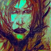 narrow wind lady face by siniša (sine) berstovšek (sinonim)