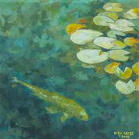 Koi lily pond Art Prints & Posters by Ruth Hayes