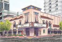 Egyptian Theater watercolor painting Boise Idaho