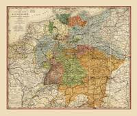 Map of Germany (1855)