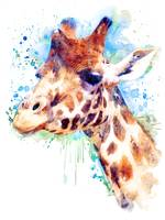 Giraffe Watercolor Portrait