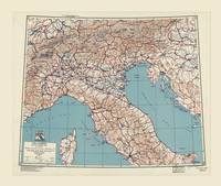 Northern Italy World War II Strategic Map (1943)